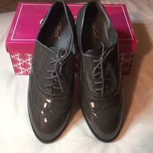 Wanted Lace -Up Oxford Gray Size 10